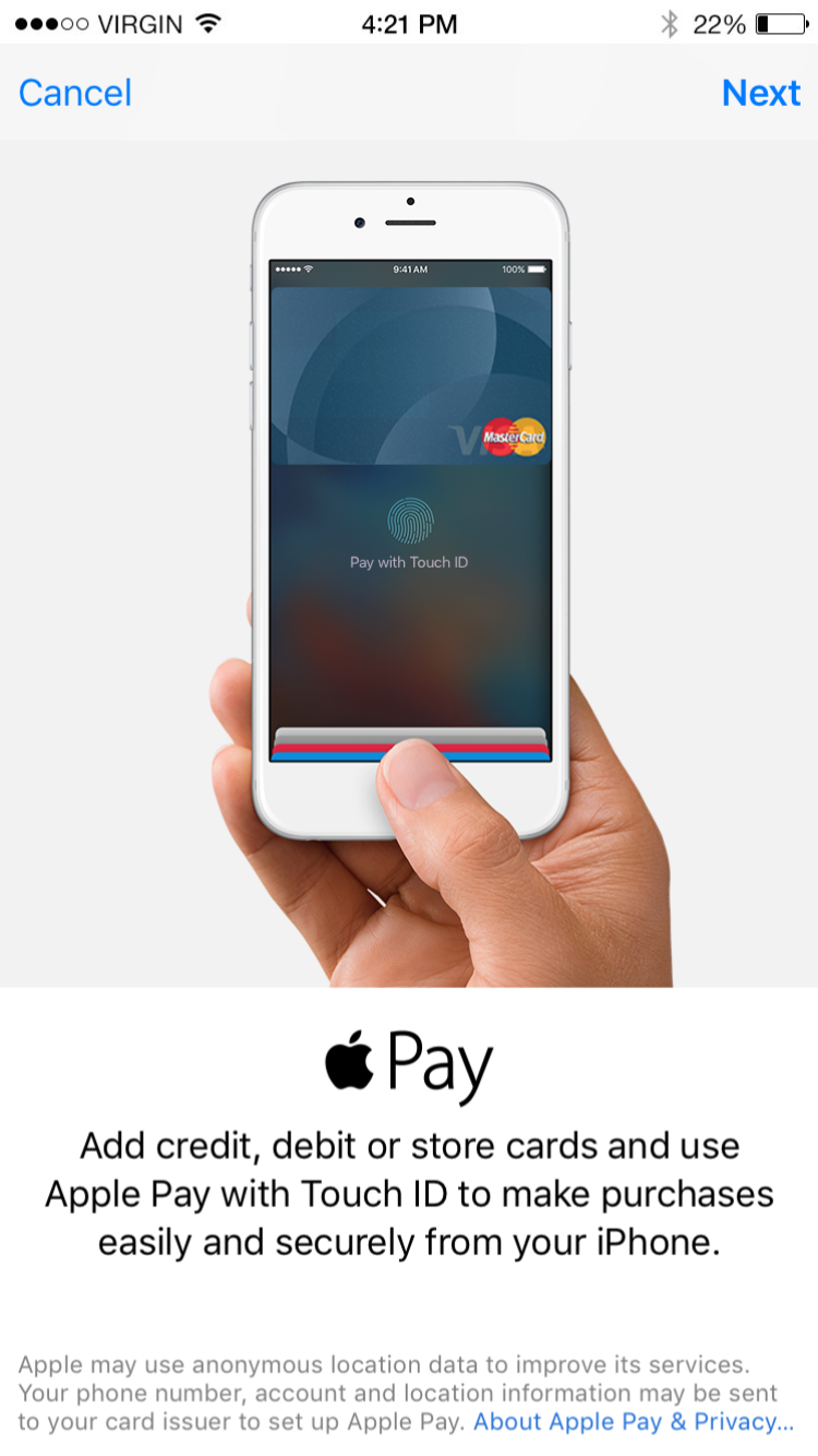 Apple Pay TouchID