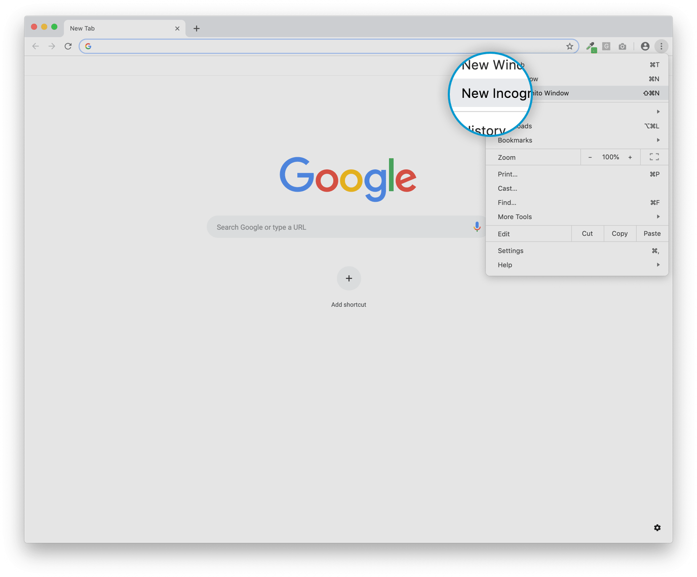 How to pen an incognito window image 2