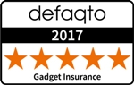5 star Defacto rating for Gadget Insurance